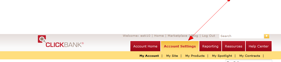 ClickBank Account Settings